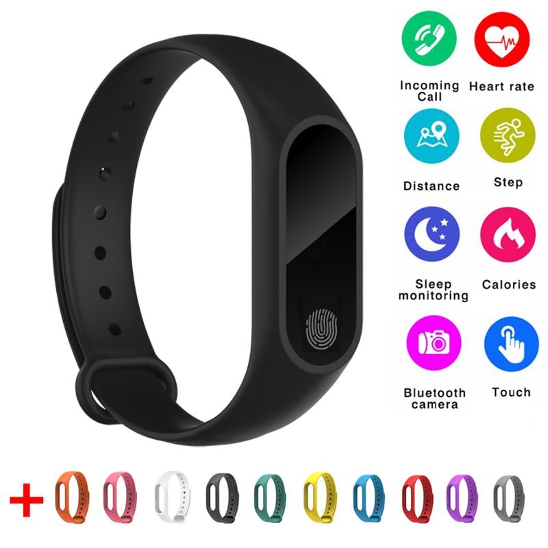 Neueste Smart Band M2 Wasserdichte Smartband Pulsmesser Bluetooth Smart Armband Schlaf Fitness Tracker Schrittzähler Armband