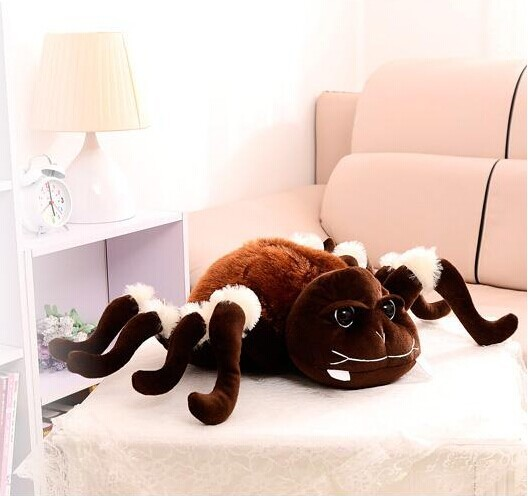 creative plush whimsy spider toy cute brown spider toy new style doll gift doll about 45x60cm 0279