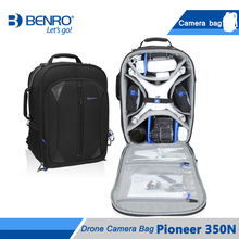 цена на Benro Pioneer 350N Drone Camera Bag For Phantom3/4 Professional Drone Backpack Bags Large Size Soft Bag Free Shipping
