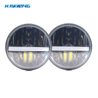 HJYUENG 36wFor Nissan Patrol Y60 Hummer H1 H2 Patrol Y60 7inch Round LED Headlight For Jeep