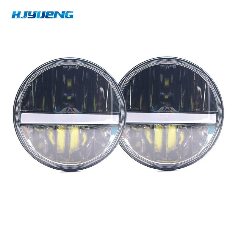 HJYUENG 36wFor Nissan Patrol Y60 Hummer H1&H2 Patrol Y60 7inch Round LED Headlight For Jeep Wrangler TJ JK LJ CJ 2D 4D 7inch Led ...