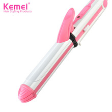 Multifunction Iron Flat Hair Straightener Ceramics Straightening Curling Roller Styling Tool EU Plug Professional Hair Styling