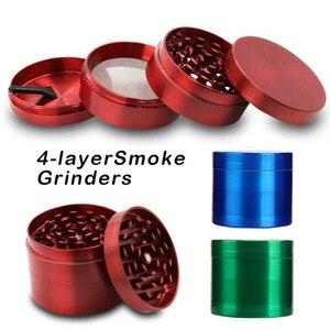 4Layers Aluminum Tobacco Grinder Weed Grinder Tobacco Smoking Herb Grinder Spice Herbal Hand Crank Crusher Accessories L*C(China)