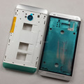 100% Original Front Frame + Housing Middle Frame Cover + Side Button For HTC One M7 802W 802T 802D (Dual Sim) White Replacement