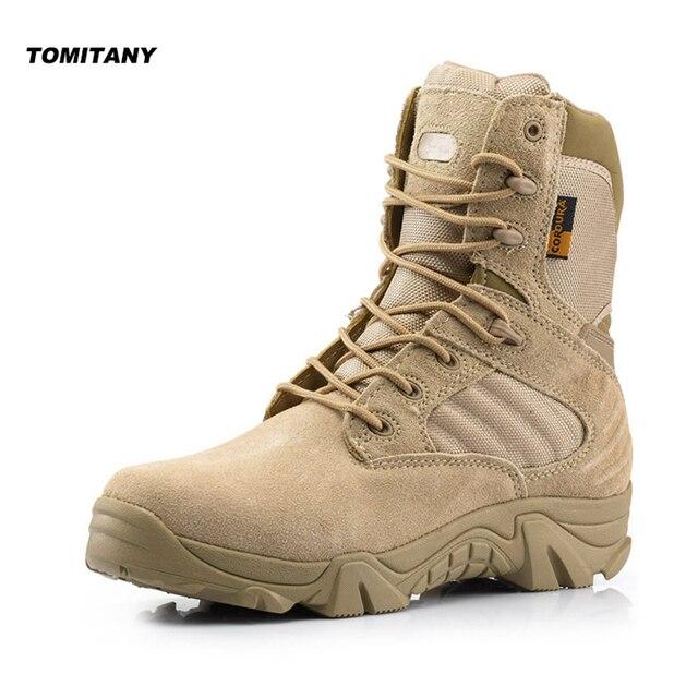 7392a78573e8c Outdoor Hiking Shoes Mens Professional Climbing Trekking Camping Hunting  Shoe Man Waterproof Military Tactical Boots Men