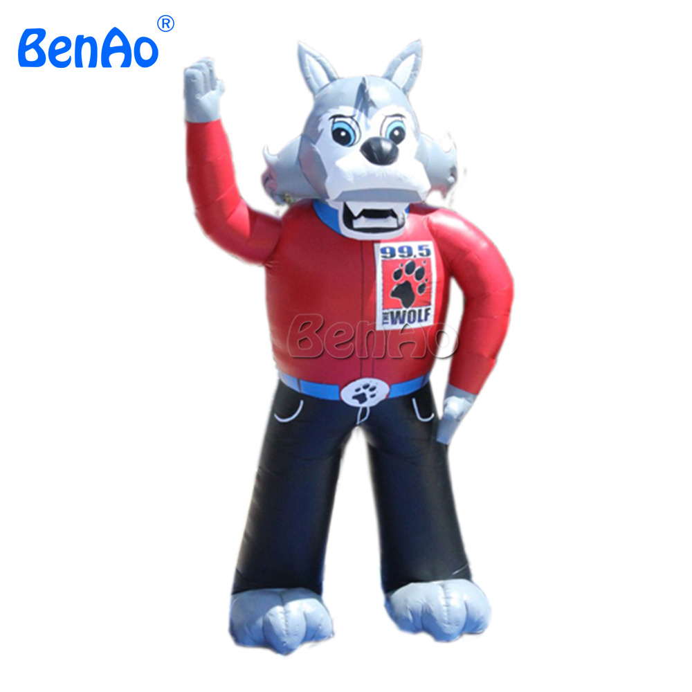 AC099 BENAO Free shipping+blower 8m high Promotional Inflatable replica wolf animals/large inflatable advertising wolf for sale литой диск replica legeartis concept ns512 6 5x16 5x114 3 et40 d66 1 bkf