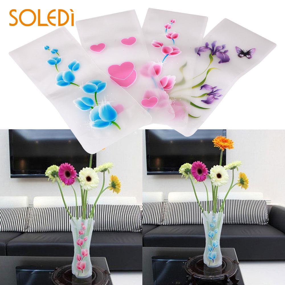 1 Stück Viele Stile Kleinen Klapp Vase Und Schöne Farben Dekoration Kunststoff Blume Vase Zufällige Farbe Hause Hochzeit Party Auswahlmaterialien