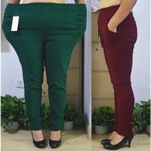 Clobee 2018 Winter Vintage Plus Size XL-7XL Elastic Pencil Pants Women High Strench