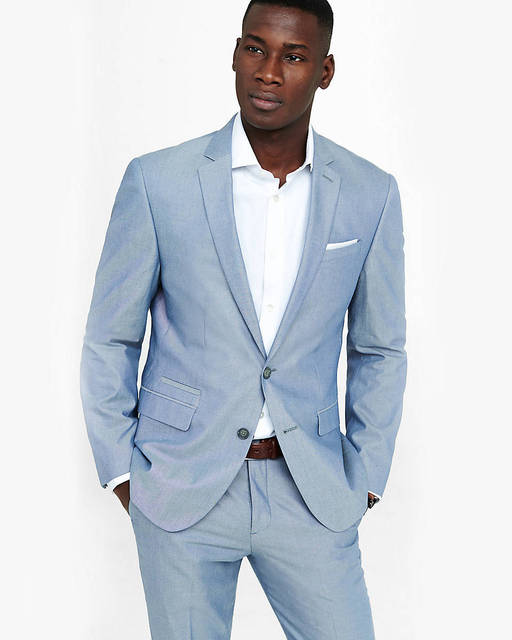 Casual Fumo Blu Uomo Suit Slim Fit Abiti Da Sposa Per Uomo Su misura  Smoking Dello 5d7a2db173c
