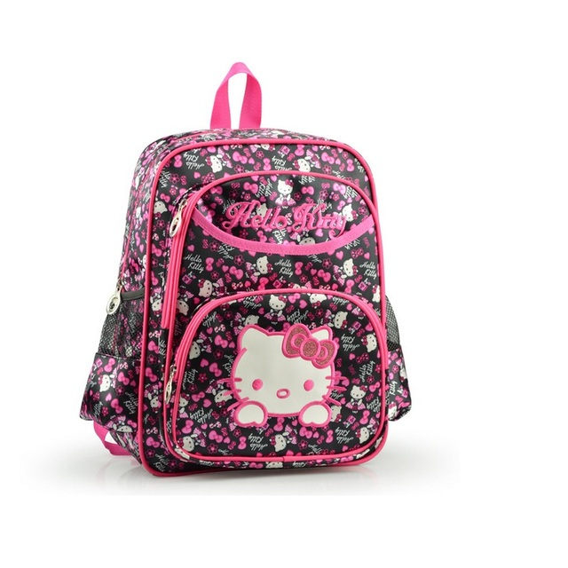 New fashion quality hellokitty children kids bags girls school backpack bag  bolsos infantiles carton schoolbag free 36f630167cf28