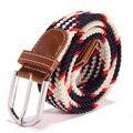 Plain Correias de Lona Das Mulheres dos homens do Metal Fivela Tecido Stretch Cintura Belt 31 Cores