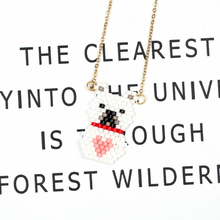 FAIRYWOO White Polar Bear Pendant Necklace Women's Bohemia Jewelry Trendy Rose Gold Chain Imported Glass Beads Handmade Necklace fairywoo new 3 styles animal pendant necklace for women 2019 fashion cute cat jewelry gold chains handmade necklace glass beads