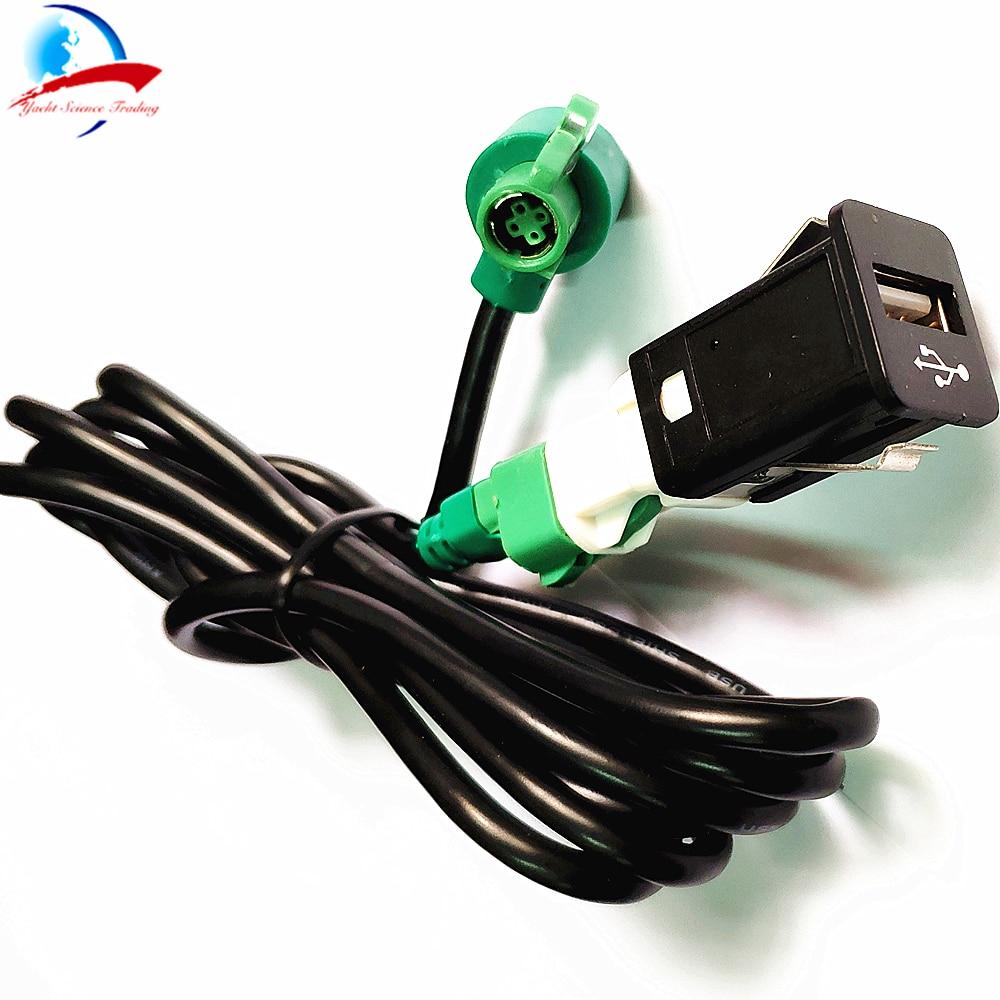 Davitu Cables Adapters /& Sockets Color Name: Black Do Promotion Car Dash Flush Mount USB Port 3.5mm AUX USB Extension Cable Lead Mounting Panel Headphone Jack -