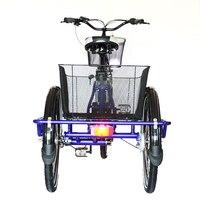 Электрический велосипед электрический Новинка 2017 года дизайн Большие Размеры 3 колеса с одного места Электрический трицикл Электрический