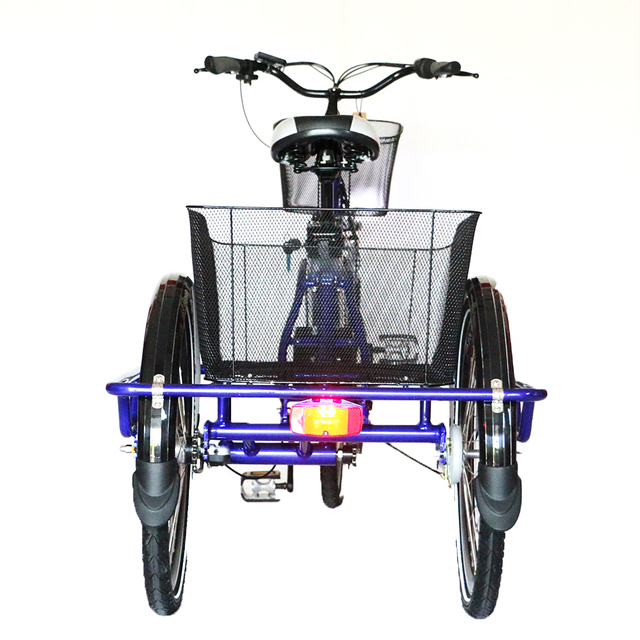 Electric Bike Bicycle 2017 New Design Size 3 Wheel With One Seat Tricycle Cargo Trike For Man