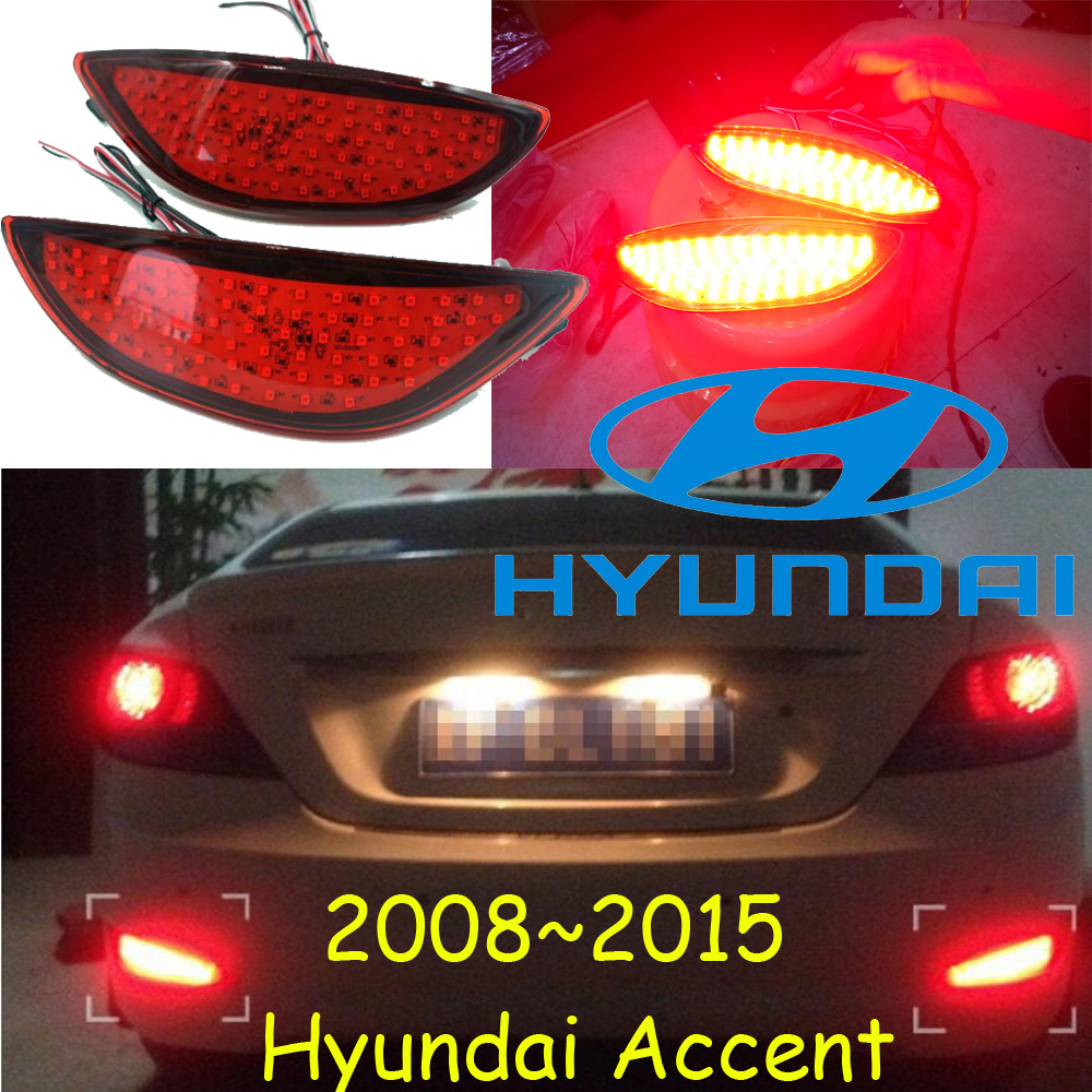 Sedan car use,Verna rear light,solaris,2016~2018,LED,free ship!accent,IX35,Genesis,i10,i20,santa fe,lantra,Verna fog light accent verna solaris for hyundai led tail lamp 2011 2013 year red color yz