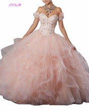 Sweetheart Lace Appliques Sweet 16 Quinceanera Dress Debutante Flowers Beadings Tulle Prom Party Gowns Long Lace up Formal Gowns недорго, оригинальная цена