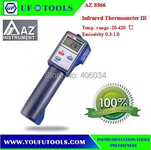 AZ8866 Gun Type Infrared IR Thermometer / AZ 8866 Temperature with -20~420 degree / AZ-8866 Handheld Infrared IR Thermometer  цены