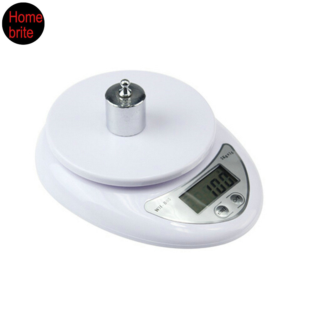 5kg x 1g Digital Scale LCD Electronic Steelyard Kitchen Scales Postal Food Balance Measuring Weight CF02