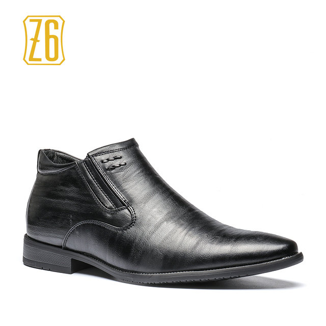 Z6 brand British style men boots 40-45 spring fashion pointed toe leather boots #1R1295-1