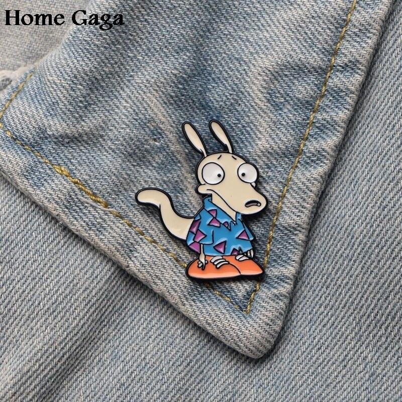Arts,crafts & Sewing Bright 10pcs/lot Homegaga Rocks Modern Life Rock Zinc Tie Cartoon Pin Backpack Clothes Brooches For Men Women Hat Badges Medal D1328 Home & Garden