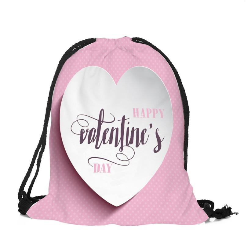 Celebrate Valentines Day Unisex Printing Drawstring Bag Sack Sport Gym Travel Cotton Fabric Backpack Lightweight Bags 10aug 10 Luggage & Bags Men's Bags