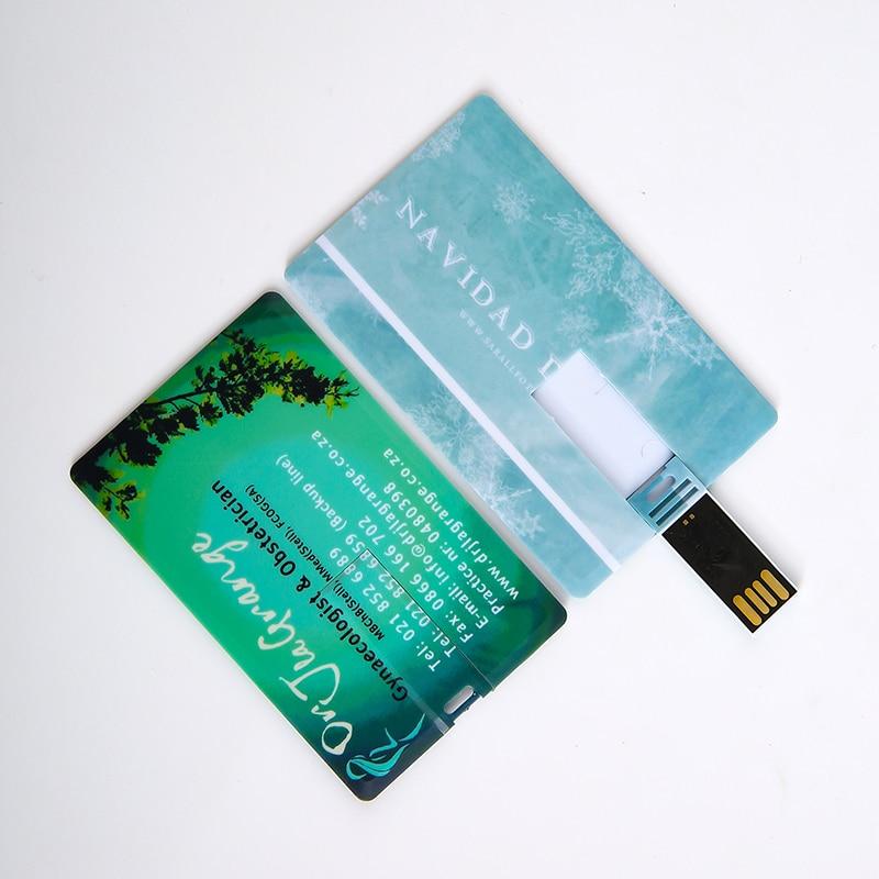 Over 10 Pcs Free Customised Logo Credit Card Usb Flash Drive 64gb 32gb Pen Drive Usb2.0 Drive Personlize Design Memory Stick