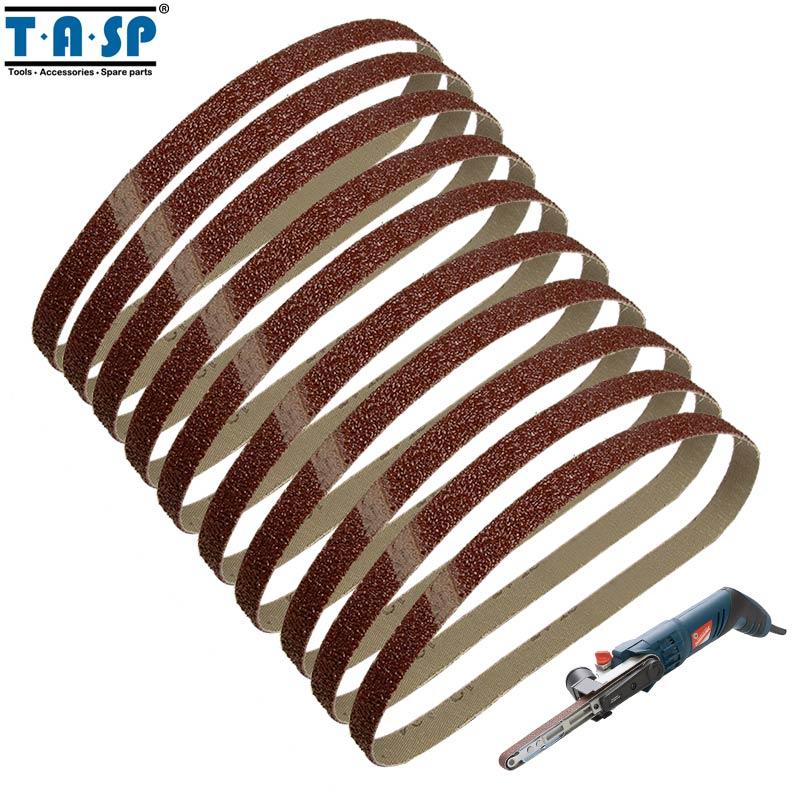 Tasp 10pcs 25x762mm Abrasive Sanding Belt 1x30 Belt Sander Sandpaper Woodworking Tools Accessories High Quality Tools