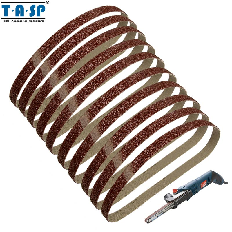 Tools Honest Tasp 5pcs 75x533mm Aluminium Oxide Sanding Belt 3x21 Belt Sander Sandpaper Woodworking Power Tools Accessories