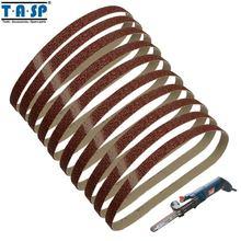 TASP 10pcs 13x457mm Abrasive 1/2x18 Belt Sander Sandpaper Aluminium Oxide Woodworking Power Tool Accessories