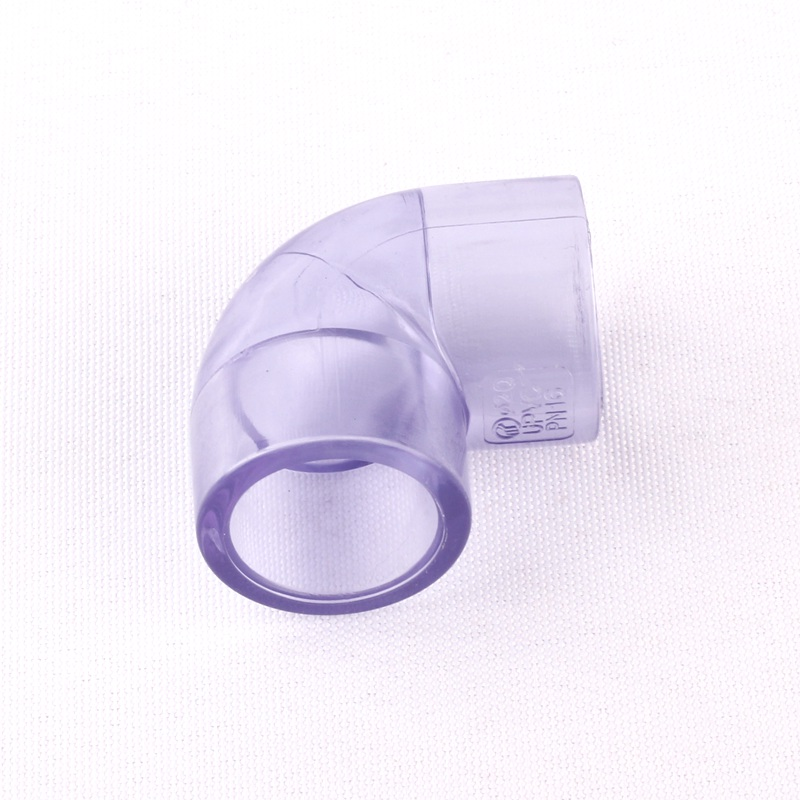 Inner Dia 20mm 0.8 Transparent 90 Degree UPVC S*S Equal Elbow Connector Home Garden Aquarium Water Pipe Elbow Joint image