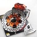Rpm cnc garfo pinças de freio freio bombas + adaptador de pinça de freio da motocicleta bracket + 200/220mm conjunto de discos universal para yamaha