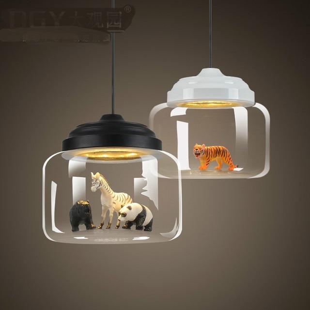 Nordic Persoonlijkheid Creatieve Mooie Diermodel Zoo Glas Led E27 ...