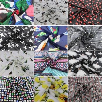0516c01b17c Геометрический шифон материал ткань пэчворк - a.glope.me