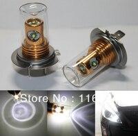 2PCS X H7 499 20W CREE Xenon White 6000K LED Driving Fog Lights DRL Bulbs Headlight