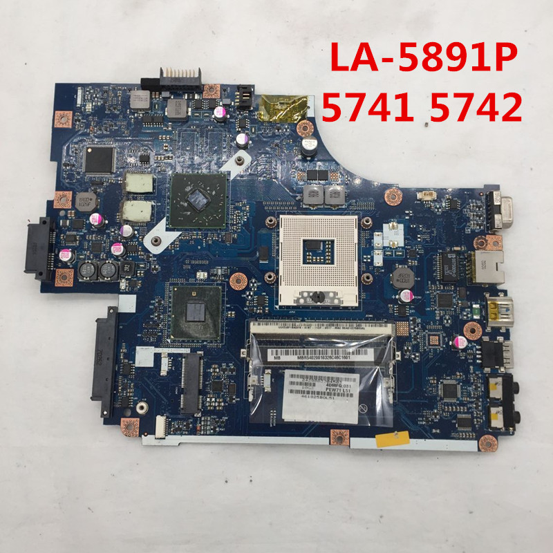 High Quality For 5741 5741G Laptop Motherboard NEW70 LA-5891P HM55 HD5470 512M 100% Full Tested