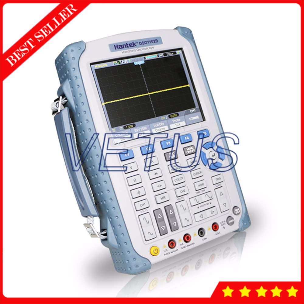 Hantek <font><b>DSO1102B</b></font> Digital Multimeter Handheld Oscilloscope with 2 Channels 100MHz 1Gsa/S 1M Memory Depth 6000 Counts DMM image