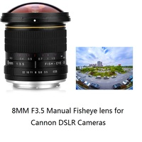 Lightdow 8mm F/3.5 Manual Ultra Wide Angle Fisheye Lens for Canon Half Frame Cameras 1200D 760D 750D 700D 750D 600D 70D 60D 77D