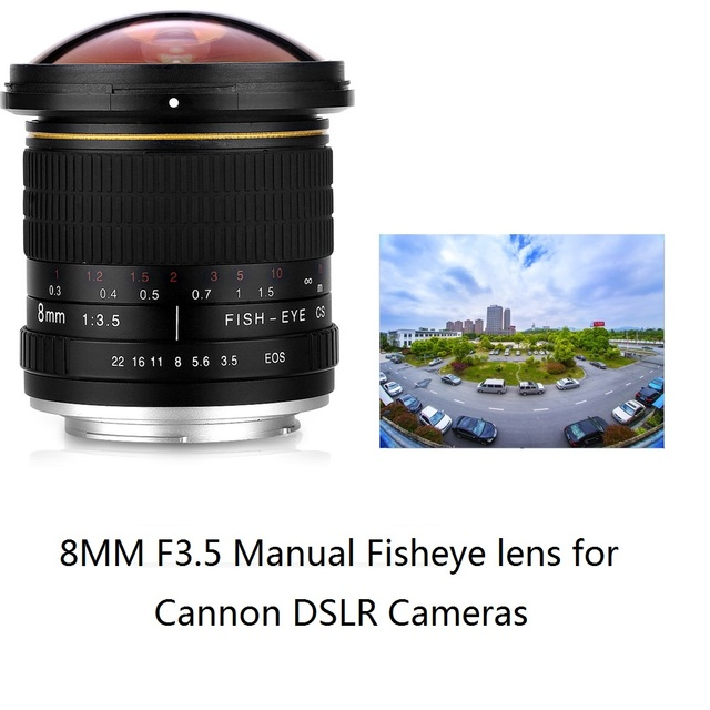 Lightdow 8mm F/3,5 Manual Ultra gran angular lente ojo de pez para ...