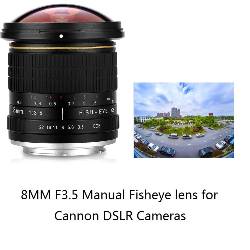 Lightdow 8mm F/3.5 Manuale Ultra Wide Angle Fisheye Lens per Canon Mezza Cornice di Telecamere 1200D 760D 750D 700D 750D 600D 70D 60D 77D
