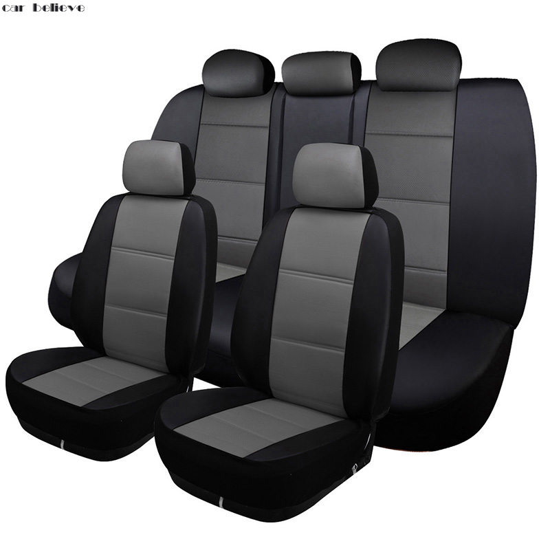 Car Believe Auto Leather car seat cover For bmw e46 e36 e39 accessories e90 x5 e53 f11 e60 f30 x3 e83 covers for vehicle seats yuzhe 2 front seats auto automobiles leather car seat cover for bmw e30 e34 e36 e39 e46 e60 f11 f10 f30 x3 x5 x1 accessories