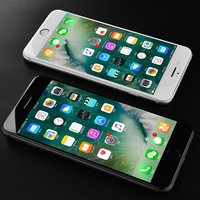 10pcs wholesale 2nd Gen Full coverag For iPhone 6 6s 7 7 8 Plus protective glass 4D Screen Protector Edge Tempered Glass Cover
