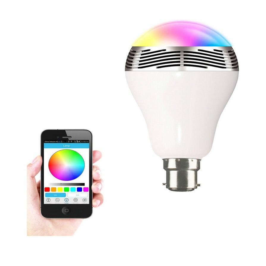 1 шт. 6 Вт <font><b>E27</b></font> Беспроводной <font><b>Bluetooth</b></font> Динамик RGB Цвет smart <font><b>led</b></font> лампочки лампы Новые Новинка