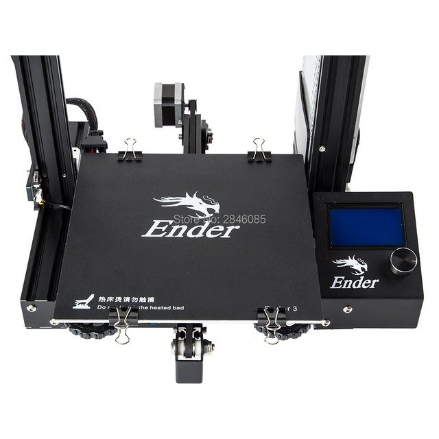 CREALITY 3D Printer Ender-3/Ender-3X Upgraded Tempered Glass Optional,V-slot Resume Power Failure Printing DIY KIT Hotbed 3
