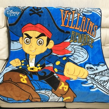 Disney Cartoon One-Piece Villains Beware Coral Fleece Blanket Throw 117x152cm for Girls Summer Air Conditioning Blanket фото