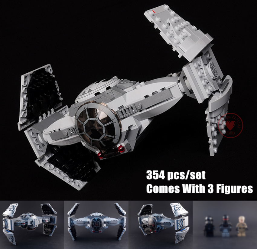New Force Awakens TIE Advanced fit legoings star wars figures starwars fighter Building Blocks bricks 75082 kid gift diy Toy new force awakens fighter fit legoings star wars millennium falcon figures 10467 75212 building blocks bricks gift kid toys