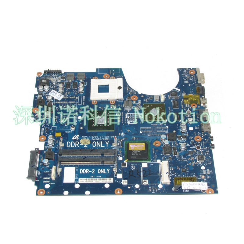 NOKOTION BA92-05739A BA92-05739B BA41-01060A BA41-01061A For Samsung NP-R522 R522 Laptop motherboard PM45 GPU Free cpu motherboard for samsung r530 r528 main board ba92 06346a ba92 06346b ba41 01227a pm45 ddr3 free cpu gt310m gpu