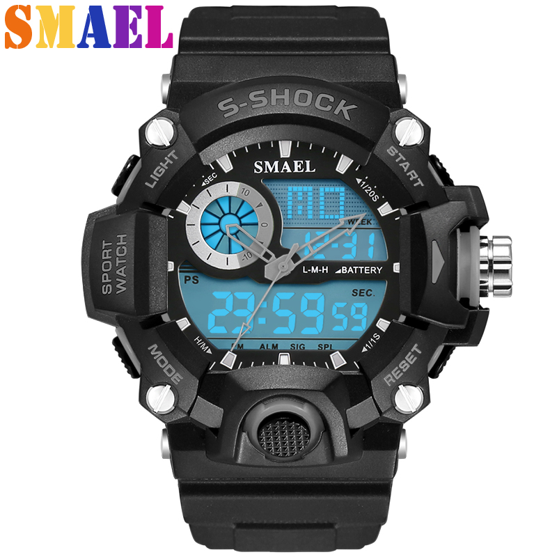 2017 New Fashion Brand Men Sports Watches LED 50M Dive Swim Dress Digital Military Casual Watch Student Outdoor Wristwatches