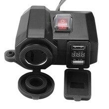 AOZBZ 3 в 1 мотоциклетный прикуриватель цифровой дисплей Вольтметр мотоциклетный мобильный телефон зарядное устройство водонепроницаемый USB быстрая зарядка