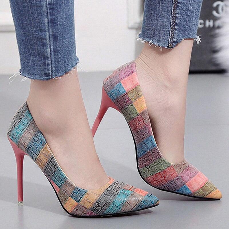 97999c4be61 Cheap Zapatos de tacón alto de mujer a la moda zapatos de mujer Sexy  tacones cómodos
